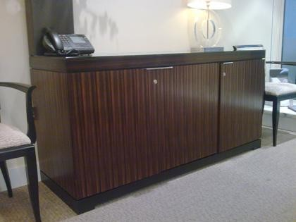 Macassar ebony meeting room credenza