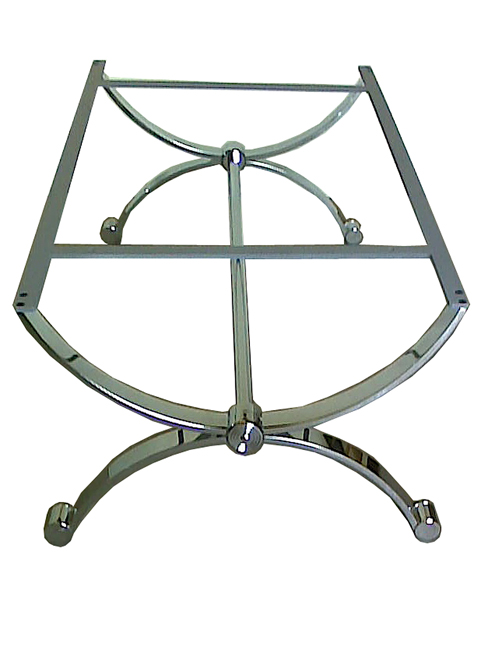 Classic chrome and glass coffee table base