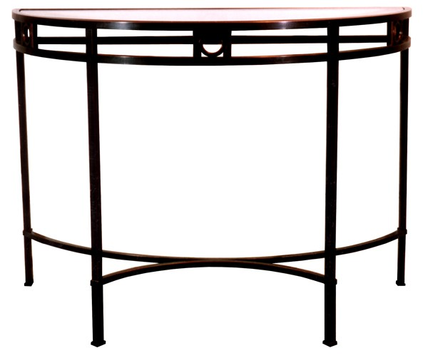 Curved Braxted console table