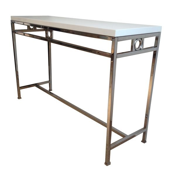 Braxted console table with acrylic top