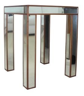 Fairbank mirrored lamp table