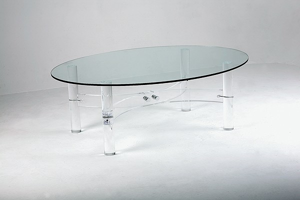 Bowed coffee table