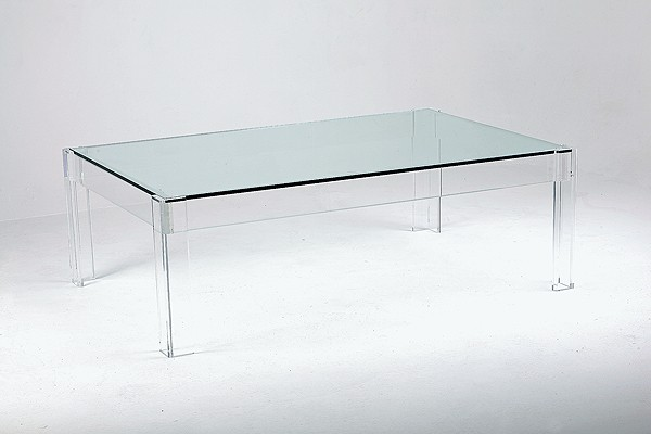 Redenham acrylic and glass coffee table