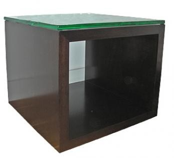Bladon timber cube with glass top