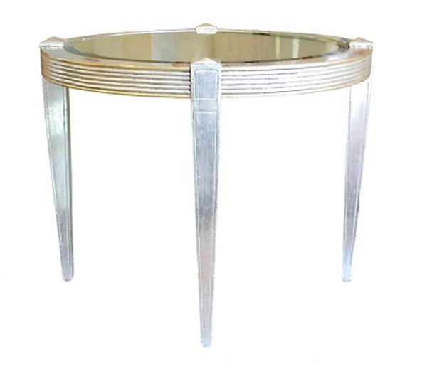 Silver gilded circular occasional table