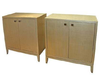 Silver leaf cabinets