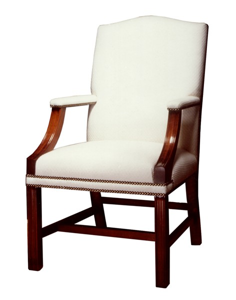 Gainsborough upholstered mahogany chair