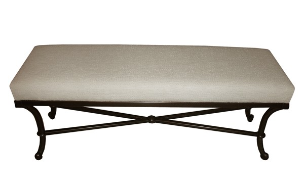 CJ2 Upholstered coffee table with bronze metal finish base