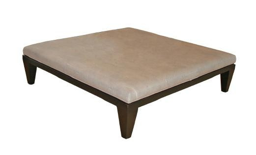 Faux shagreen leather stool